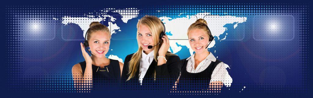 women in a call center