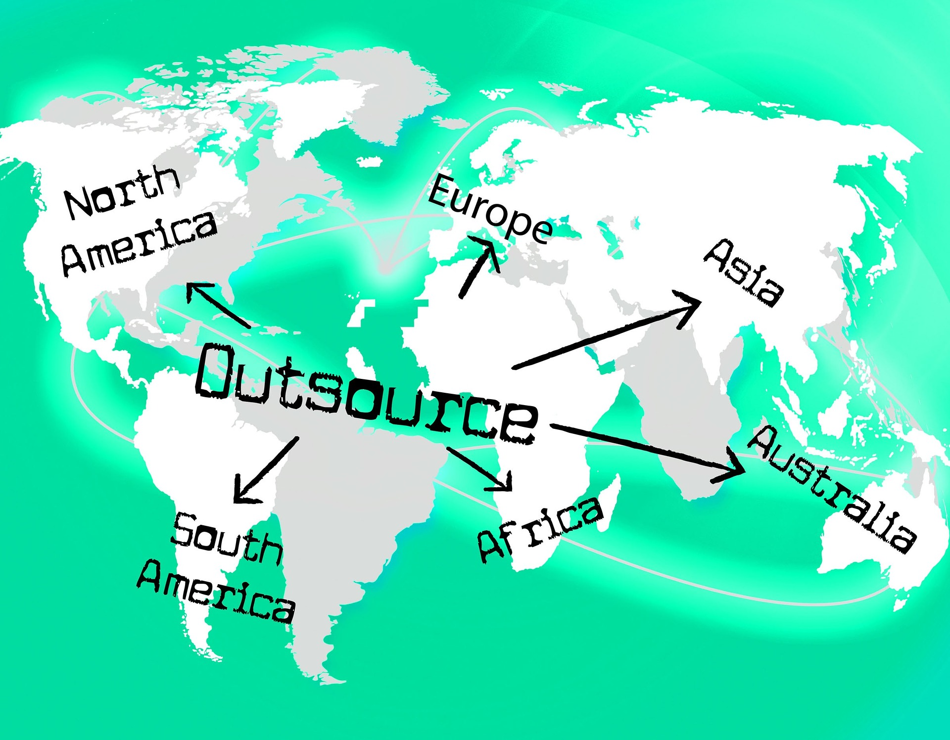 outsource across different continents